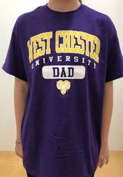 West Chester Golden Rams Dad Graphic T Shirt - Purple