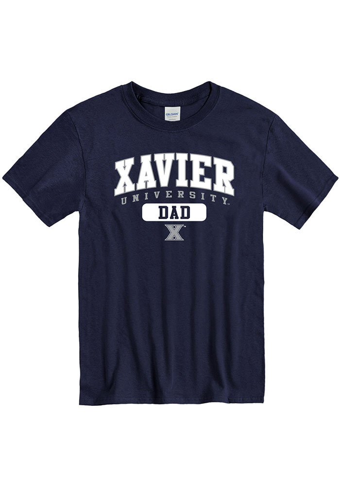 Xavier Musketeers Dad Graphic T Shirt - Navy Blue
