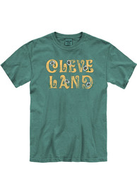 Cleveland Women's Light Green Floral Comfort Colors Unisex Short Sleeve T-Shirt