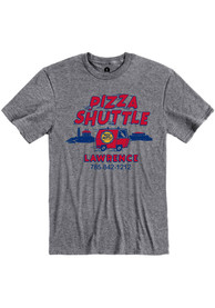 Pizza Shuttle Heather Graphite Lawrence Van Short Sleeve T-Shirt