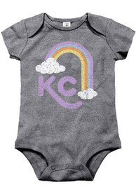 Kansas City Baby KC Rainbow One Piece - Grey