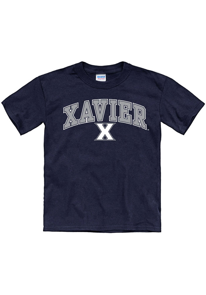 Xavier Musketeers Youth Arch Mascot T-Shirt - Navy Blue