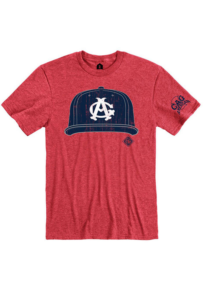 Rally Chicago American Giants Red Cap Short Sleeve Fashion T Shirt - Image 1