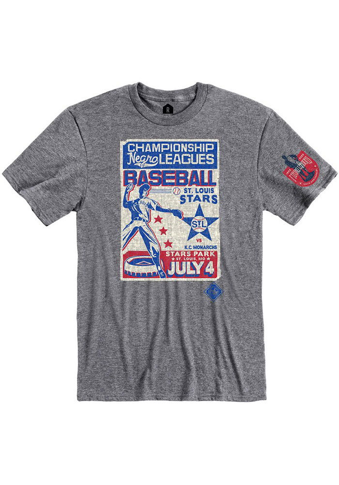 Rally St Louis Stars Grey Poster Inspired Short Sleeve Fashion T Shirt - Image 1