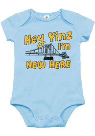 Pittsburgh Baby Blue Yinz Im New Here One Piece