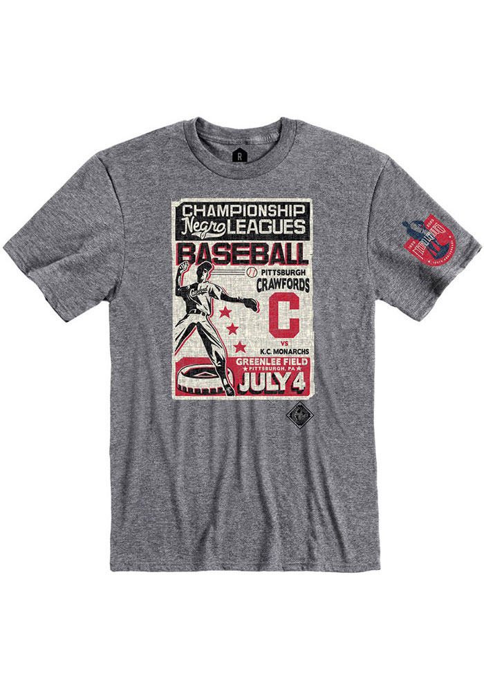 Rally Pittsburgh Crawfords Grey Poster Inspired Short Sleeve Fashion T Shirt - Image 1