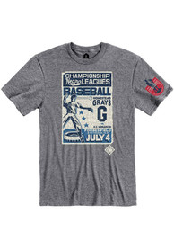Homestead Grays Rally Poster Inspired Fashion T Shirt - Grey