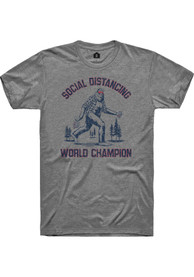 Rally Graphite Social Distancing World Champions Short Sleeve T Shirt