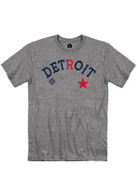 Detroit Stars Rally Arch Graphic Fashion T Shirt - Grey
