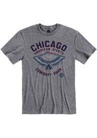 Chicago American Giants Rally Comiskey Park Fashion T Shirt - Grey