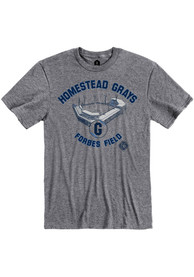 Homestead Grays Rally Forbes Field Fashion T Shirt - Grey