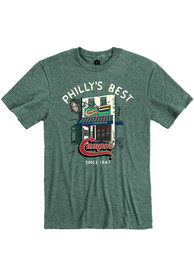 Campo's Philly Cheesesteaks Heather Dark Green Store Front Short Sleeve T-Shirt