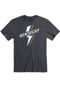 Kentucky Heather Dark Grey Lightning Rainbow Short Sleeve T-Shirt