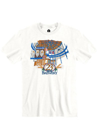 23rd Street Brewery White Atrium Building Short Sleeve T-Shirt