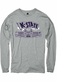 K-State Wildcats Rally Snyder Family Stadium Fashion T Shirt - Grey