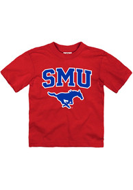 SMU Mustangs Toddler Arch Mascot T-Shirt - Red
