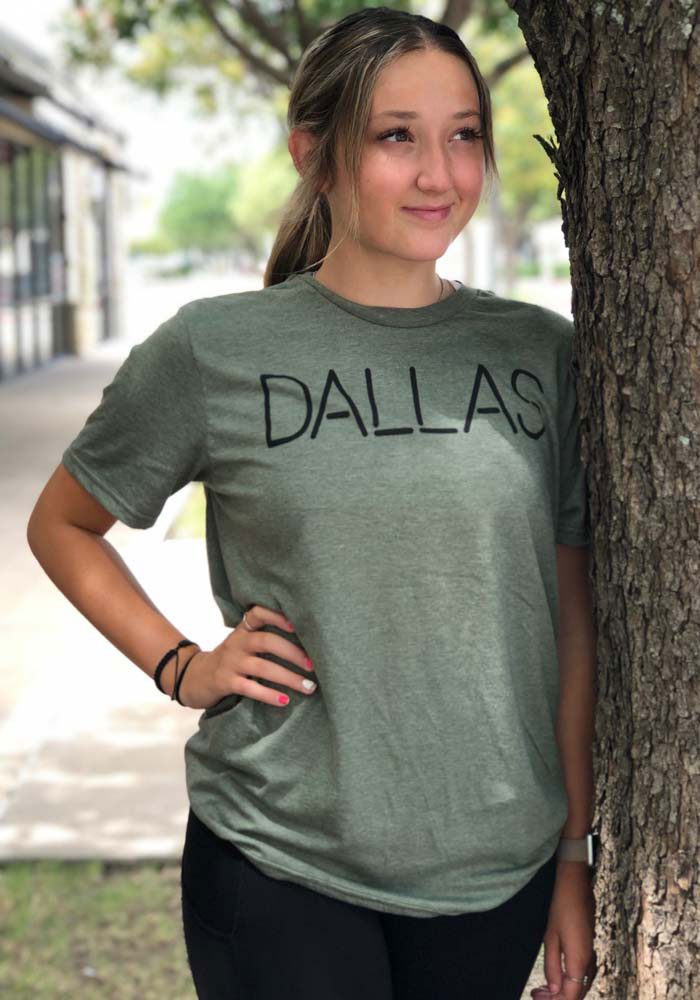 Dallas Heather City Green Disconnected Short Sleeve T-Shirt - Image 2