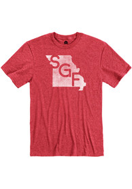 Springfield Heather Red SGF State Shape Short Sleeve T-Shirt