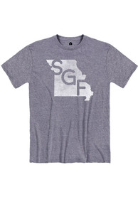 Springfield Denim Snow Heather SGF State Shape Short Sleeve T-Shirt