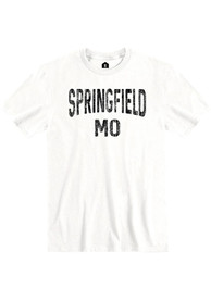 Springfield White Wordmark Short Sleeve T-Shirt