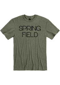Springfield Heather City Green Disconnected Short Sleeve T-Shirt