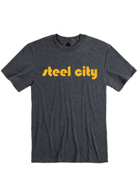 Pittsburgh Heather Dark Grey Steel City Short Sleeve T-Shirt
