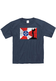 Wichita Youth Navy Flag Keeper Short Sleeve T-Shirt