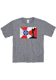 Wichita Youth Graphite Flag Keeper Short Sleeve T-Shirt