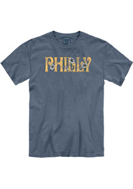 Philadelphia Women's Denim Floral Comfort Colors Unisex Short Sleeve T-Shirt