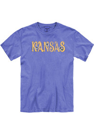 Kansas Women's Flo Blue Floral Comfort Colors Unisex Short Sleeve T-Shirt