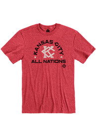 Kansas City Monarchs Rally Arch All Nations Fashion T Shirt - Red