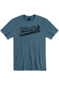 Missouri Slate Blue Peace Sign Short Sleeve T-Shirt