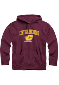 Central Michigan Chippewas Rally Arch Mascot Hooded Sweatshirt - Maroon