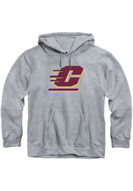 Central Michigan Chippewas Rally Primary Team Logo Hooded Sweatshirt - Grey