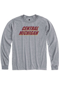 Central Michigan Chippewas Rally Rally Loud T Shirt - Grey