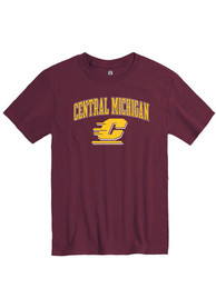 Central Michigan Chippewas Rally Arch Mascot T Shirt - Maroon