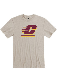 Central Michigan Chippewas Rally Primary Team Logo T Shirt - Charcoal