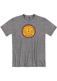 Central Michigan Chippewas Rally Seal T Shirt - Grey