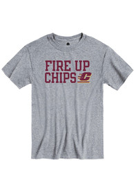 Central Michigan Chippewas Rally Slogan T Shirt - Grey