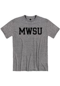Missouri Western Griffons Rally Snow Heather Block Name T Shirt - Grey