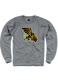 Missouri Western Griffons Rally French Terry Team Logo Crew Sweatshirt - Grey
