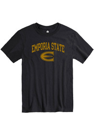 Emporia State Hornets Rally Arch Mascot T Shirt - Black