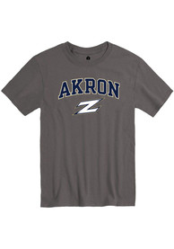 Akron Zips Rally Arch Mascot T Shirt - Charcoal
