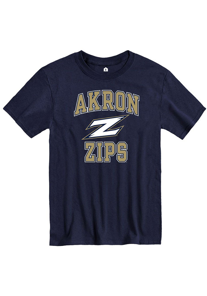 Akron Zips Rally Number One T Shirt - Navy Blue