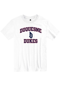 Duquesne Dukes Rally Number One T Shirt - White