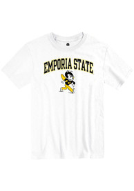 Emporia State Hornets Rally Arch Mascot T Shirt - White