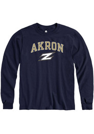 Akron Zips Rally Arch Mascot T Shirt - Navy Blue