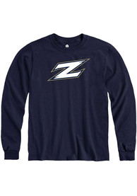 Akron Zips Rally Team Logo T Shirt - Navy Blue