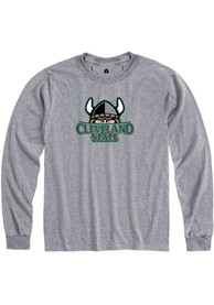 Cleveland State Vikings Rally Team Logo T Shirt - Grey