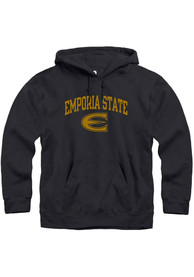 Emporia State Hornets Rally Fleece Arch Mascot Hooded Sweatshirt - Black